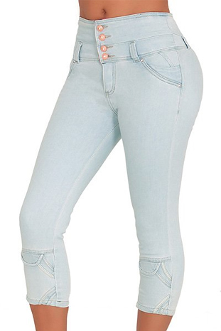 Classic Shapewear High Rise Capri Jeans