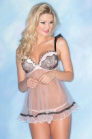 Be Wicked Two-Piece Pink Sheer Baby Doll