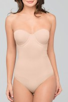 Body Wrap Strapless Bodysuit w/ Molded Underwire Cups