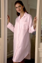Bonsoir of London Jacquard Button Front Nightshirt