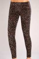 Classic Shapewear Twill Cotton Leopard Leggings