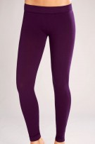 Classic Shapewear Twill Cotton Plum Leggings
