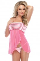 Coquette 2-Piece Mesh Babydoll and G-String Set