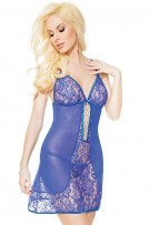 Coquette Lace and Mesh Chemise