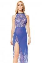 Coquette Lace and Mesh Gown