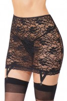 Coquette Stretch Lace Garter Skirt