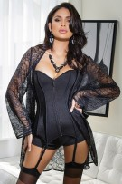 Coquette Stretch Lace Robe