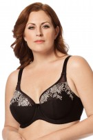 Elila Embroidered Microfiber Underwire Bra
