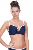 Freya In The Navy Deco Underwire Moulded Bikini Top