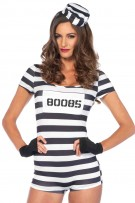 Leg Avenue 3-Piece Convicted Cutie Costume