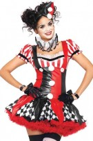 Leg Avenue 3-Piece Harlequin Clown Costume