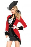 Leg Avenue 4-Piece Rebel Red Coat Costume
