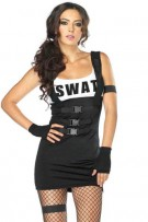 Leg Avenue 4-Piece Sultry Swat Officer Costume