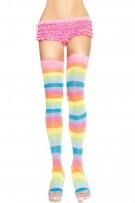 Leg Avenue Acrylic Neon Rainbow Thigh Highs