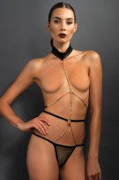 Leg Avenue Kink Chain Cage Teddy