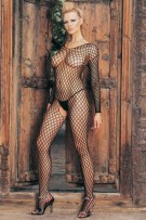 Leg Avenue Lycra Ringo Hole Long Sleeves Bodystocking