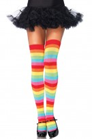 Leg Avenue Rainbow Thigh Highs