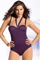 Leonisa Balconette Firm Control One-Piece Bathing Suit