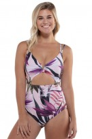 Leonisa Cut-Out One-Piece Swimsuit