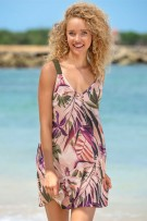 Leonisa Loose Fit Short Beach Cover-Up Dress