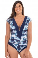 785a435c6 Leonisa Plus Size Firm Control Power slim Tankini Swimsuit 201289