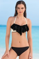 Leonisa Reversible Bandeau Top and String-Tie Bottom Swimsuit