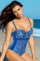 Leonisa Strapless Figure-Enhancing One-Piece Bathing Suit with Zipper