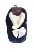 MeMoi Comfort Bow Sherpa Lined Slipper