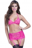 Oh La La Cheri Soft Cup Bra and High Waisted Gartered Panty