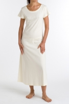 P.Jamas Butterknit Cap Sleeved Long Gown