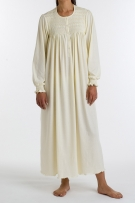 P.Jamas Isabel Embroidered Long Gown