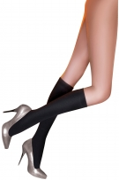 Pretty Polly 200D Fleecy Opaque Knee High Socks