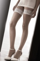 Pretty Polly Flirty Lace Top Hold Ups Bridal Ivory or Black PNAVR6
