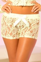 René Rofé Pink Lipstick Lace Short with Satin Bow
