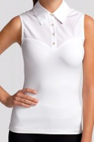 SkinnyShirt Classic Collar Sleeveless
