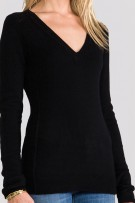 SkinnyShirt Long Sleeve Sweater Black