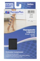 TherapyPlus Ladies Graduated Compression Knee Length Sheer