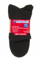 TherapyPlus Men's Value Pack Non-Binding Quarter 3-Pack