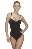 Vedette Danette Medium Control Strapless Bodysuit in Thong