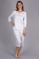 Verena Juliette Capri Pajama with 3/4 Sleeves