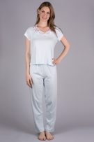 Verena Shelley Long Pajama with Short Sleeves