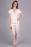 Verena Sierra Long Pajama with Short Sleeves
