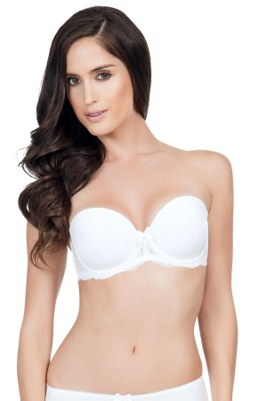 Affinitas Pearl Strapless Push Up Bra