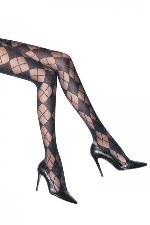 Alice & Olivia for Pretty Polly Argyle Tights