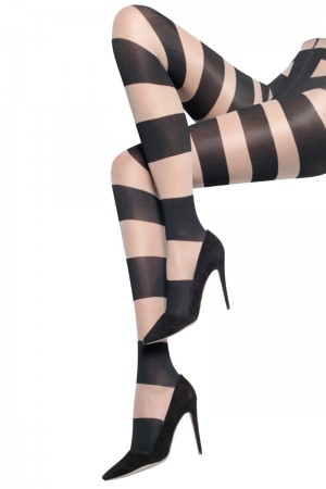 Alice & Olivia for Pretty Polly Horizontal Stripe Tights
