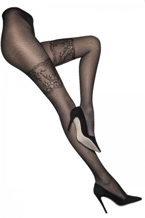 Alice & Olivia for Pretty Polly Lace Fishnet Tights