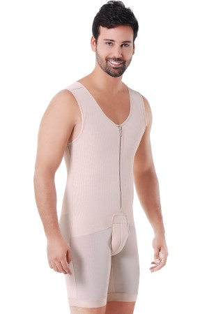 Ann Michell Men's Firm Compression Powernet Bodysuit