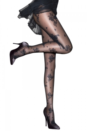 Aristoc for Pretty Polly All Over Floral Tights