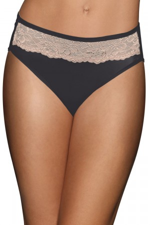 Bali One Smooth U Comfort Indulgence Satin with Lace Hi Cut Panty