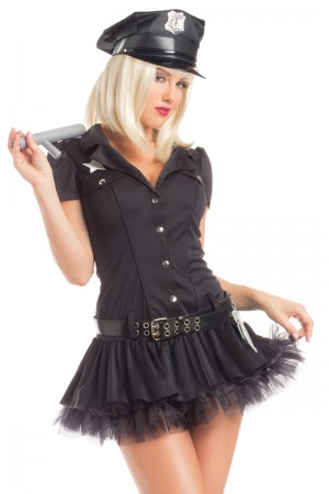 Be Wicked Passionate Police Woman Costume